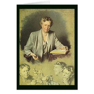 Cartão Retrato branco da casa de Eleanor Roosevelt