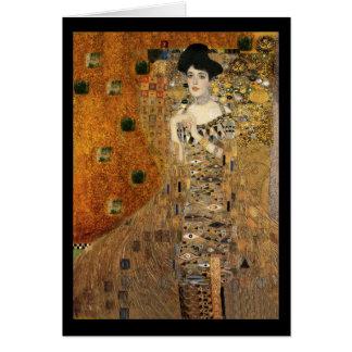 Cartão Retrato da Adele Bloch-Bauer de Klimt