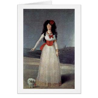 Cartão Retrato da duquesa Alba Francisco De Goya