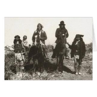 Cartão Retrato da família extensa