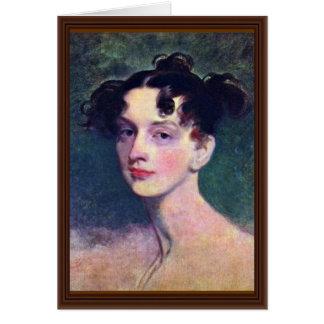 Cartão Retrato da princesa Lieven senhor Thomas