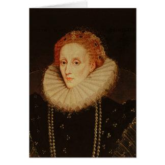 Cartão Retrato da rainha Elizabeth mim