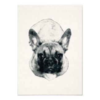 Cartão Retrato da tinta do filhote de cachorro do