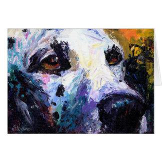 Cartão Retrato Dalmatian bonito do cão