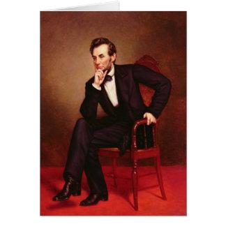 Cartão Retrato de Abraham Lincoln