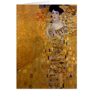 Cartão Retrato de Adele Bloch-Bauer pela nota de Klimt