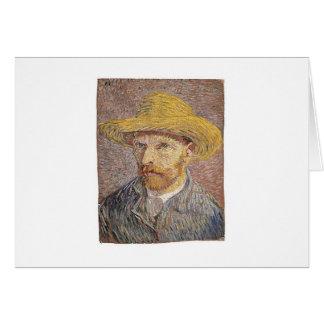 Cartão Retrato de auto de Van Gogh