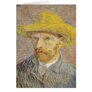 Cartão Retrato de auto de Vincent van Gogh com arte do