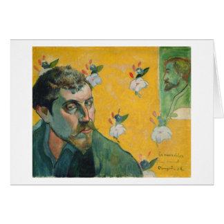 Cartão Retrato de auto, Les Miserables, 1888 (óleo em