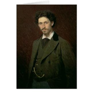 Cartão Retrato de Ilya Efimovich Repin, 1876