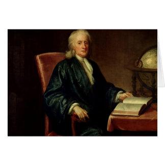 Cartão Retrato de Isaac Newton, c.1726