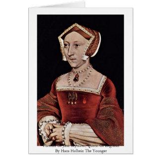 Cartão Retrato de Jane Seymour, rainha de Inglaterra