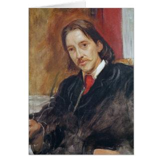 Cartão Retrato de Robert Louis Stevenson 1886