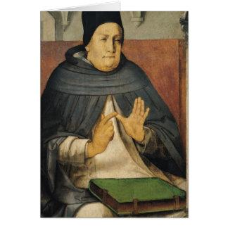 Cartão Retrato de St Thomas Aquinas c.1475