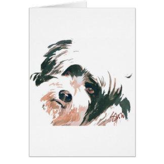 Cartão Retrato de Terrier tibetano