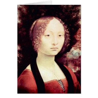 Cartão Retrato de uma dama