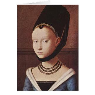Cartão Retrato de uma rapariga