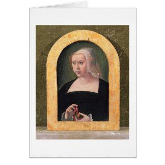 Cartão Retrato de uma senhora (painel)