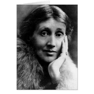 Cartão Retrato de Virgínia Woolf