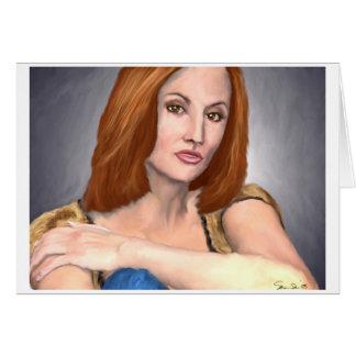 Cartão Retrato do artista