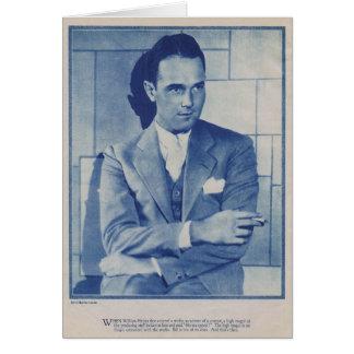 Cartão Retrato do ator do filme silencioso de William