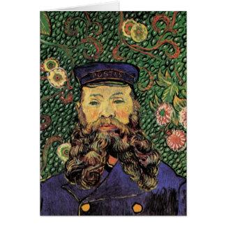 Cartão Retrato do carteiro Joseph Roulin por Van Gogh