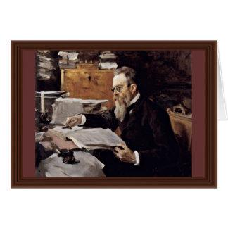 Cartão Retrato do compositor Nikolai Andreyevich