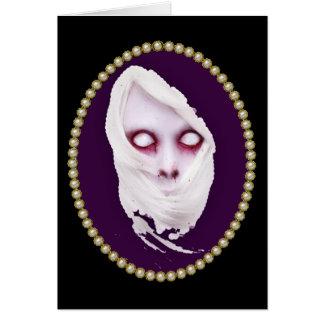 Cartão Retrato do horror