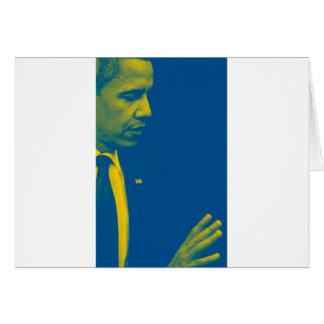 Cartão Retrato do presidente Barack Obama 38d