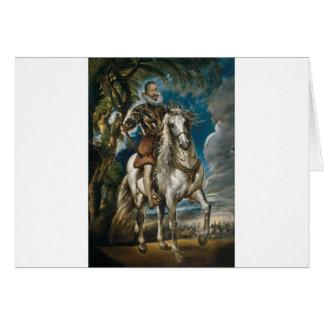 Cartão Retrato equestre do duque de Lerma - Rubens