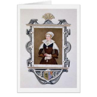 Cartão Retrato Nove-Dias Qu da senhora Jane de Cinzento