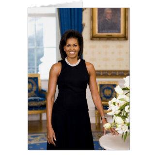 Cartão Retrato oficial da primeira senhora Michelle Obama