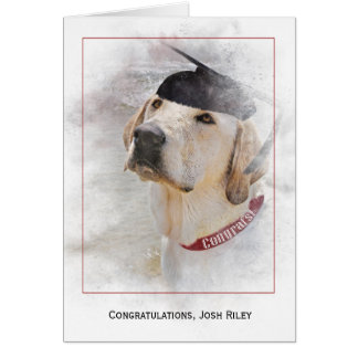 Cartão Retriever de parabéns-Labrador da graduação