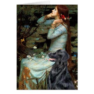 Cartão Retriever revestido liso 1 - Ophelia