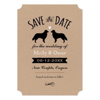 Cartão Retrievers revestidos lisos que Wedding economias
