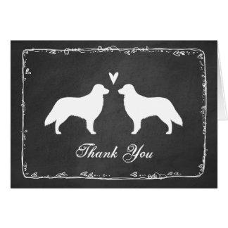 Cartão Retrievers revestidos lisos que Wedding o obrigado