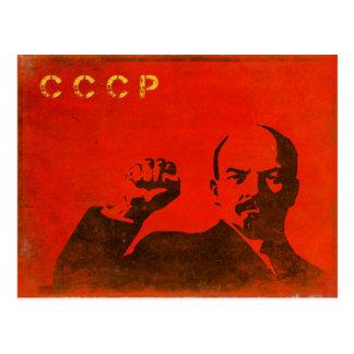 Cartão retro com impressão de Lenin URSS do vintag Cartoes Postais