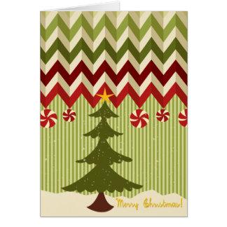 Cartão Retro cómico procura o Natal