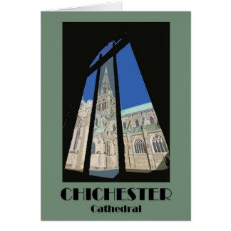 Cartão retro da catedral 1920s-style de Chichester