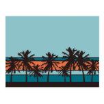 Cartão retro da praia cartoes postais