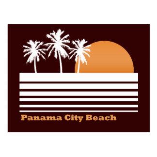 Cartão retro da praia da Cidade do Panamá