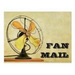 Cartão retro das cartas dos admiradores cartoes postais