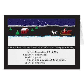 cartão retro de 8 bits do feriado do jogo