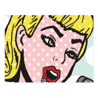 Cartão retro de Cutie da banda desenhada Cartão Postal