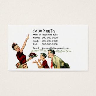 Cartão retro do contato do tempo da refeição da