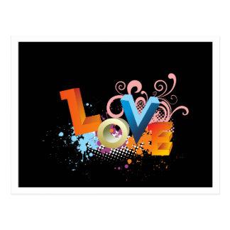 Cartão retro do cumprimento do preto do amor