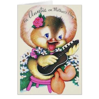 Cartão retro do dia das mães para o Auntie
