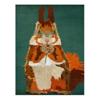 Cartão retro do esquilo ambarino cartoes postais