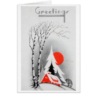 Cartão retro do feriado