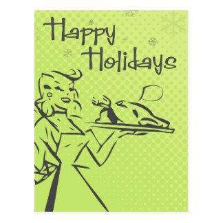 Cartão retro do feriado - limão